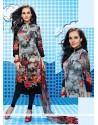 Sterling Print Work Georgette Multi Colour Churidar Designer Suit