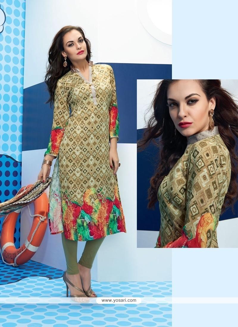 Classical Multi Colour Satin Churidar Designer Suit