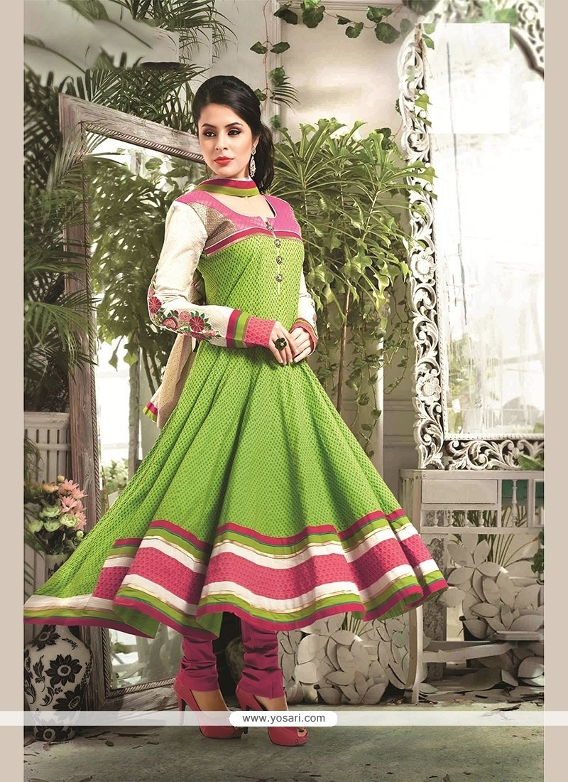 Picturesque Green Readymade Suit