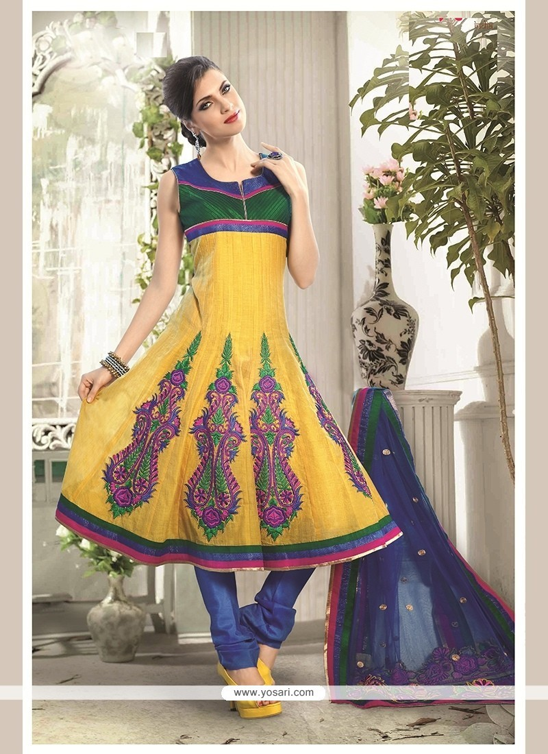Baronial Embroidered Work Readymade Suit