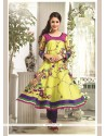 Brilliant Patch Border Work Chanderi Cotton Readymade Suit