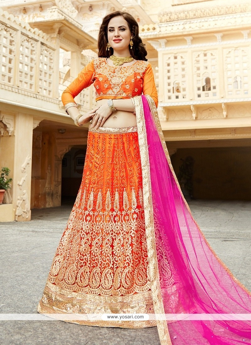 Voguish Patch Border Work Lehenga Choli