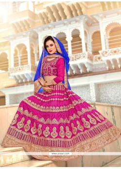 Magnetic Hot Pink Net Lehenga Choli