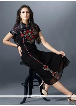 Demure Black Designer Kurti