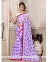 Impressive Georgette Purple Printed Saree