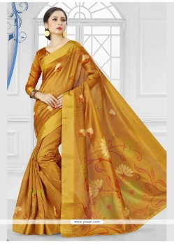Perfervid Silk Printed Saree