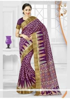 Invigorating Silk Print Work Printed Saree