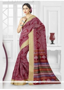 Angelic Silk Patch Border Work Classic Saree