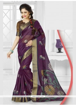 Invigorating Patch Border Work Printed Saree