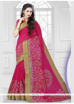 Prodigious Hot Pink Classic Saree