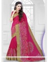 Prodigious Hot Pink Classic Saree