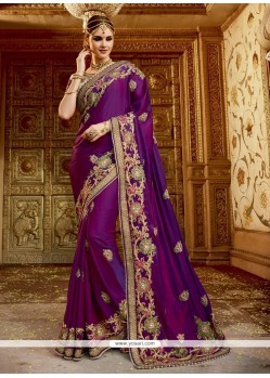 Fascinating Chiffon Satin Traditional Designer Sarees