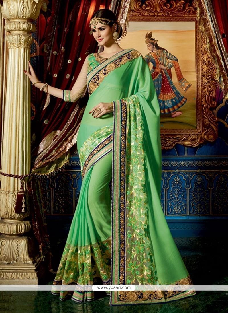 Especial Patch Border Work Classic Designer Saree