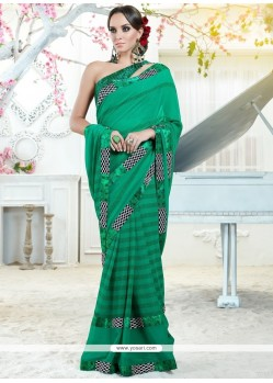 Flawless Print Work Georgette Printed Saree