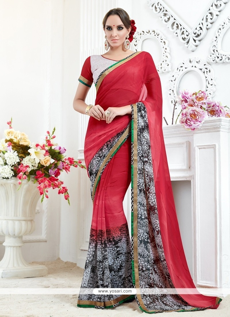 Outstanding Georgette Printed Saree
