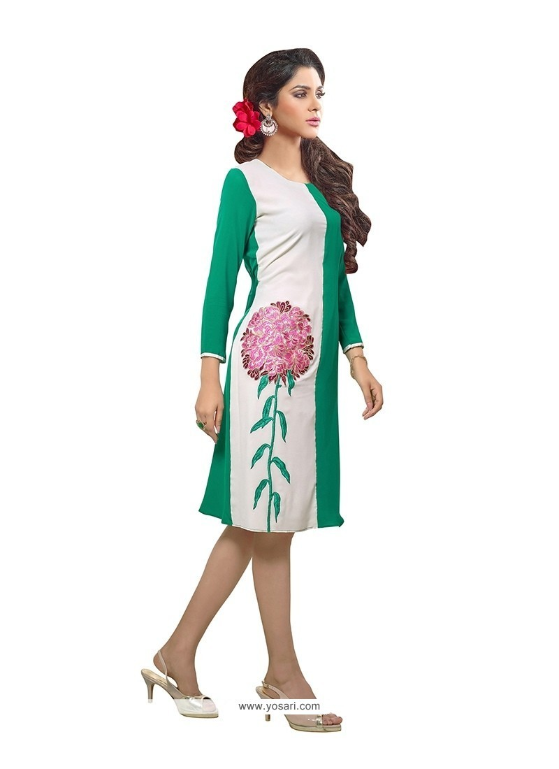 Sterling Print Work Georgette Party Wear Kurti