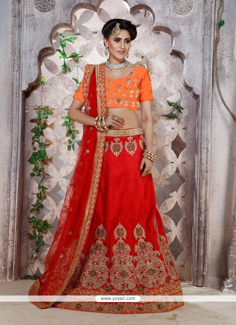 Immaculate Banglori Silk Embroidered Work A Line Lehenga Choli