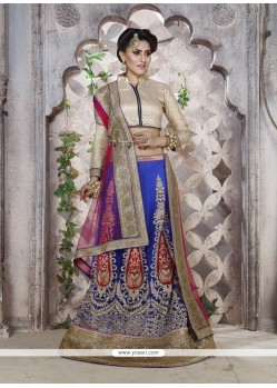 Distinctive Blue Lehenga Choli