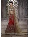 Celestial Embroidered Work Red Net Lehenga Choli