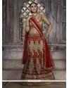 Intrinsic Net Red Resham Work Lehenga Choli