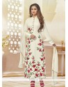 Pleasing Embroidered Work Off White Designer Suit