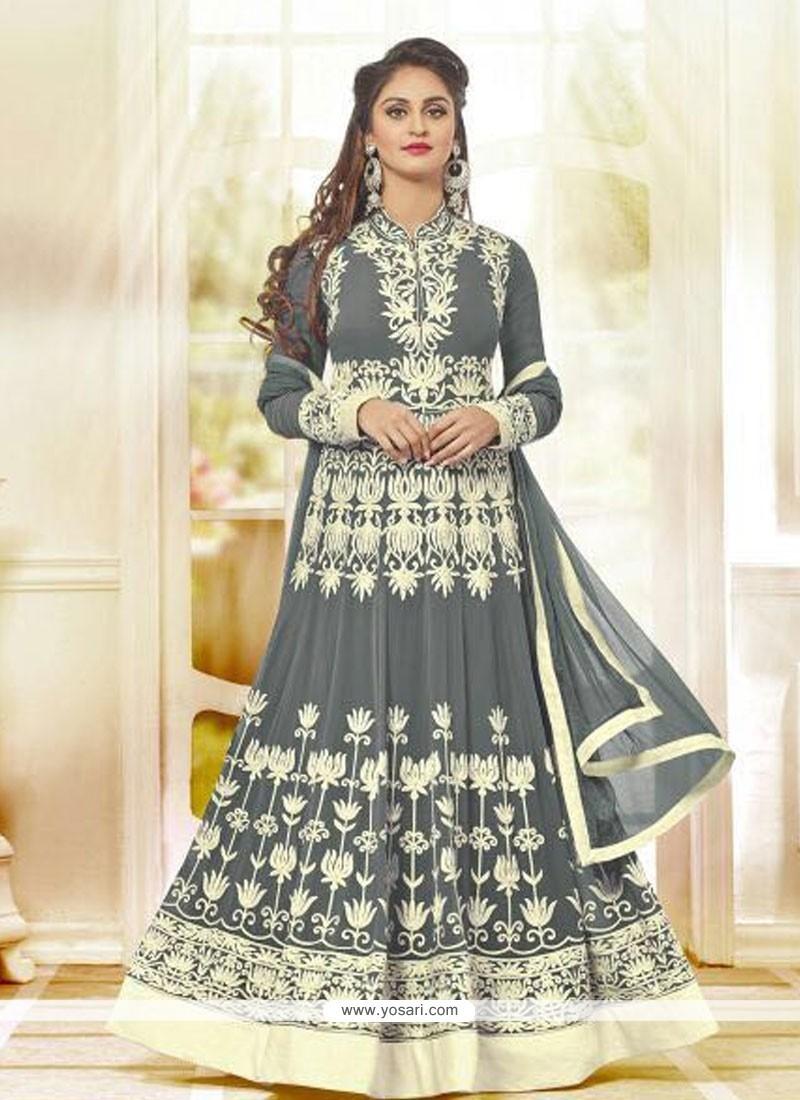 Charming Embroidered Work Anarkali Salwar Kameez