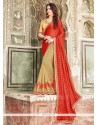 Modern Georgette Embroidered Work Designer Saree