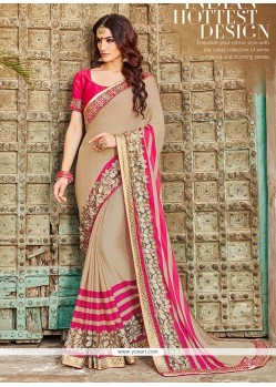 Aesthetic Resham Work Georgette Designer Saree