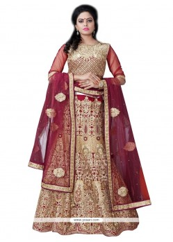 Monumental Banglori Silk Embroidered Work A Line Lehenga Choli