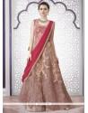 Versatile Net Pink Embroidered Work A Line Lehenga Choli