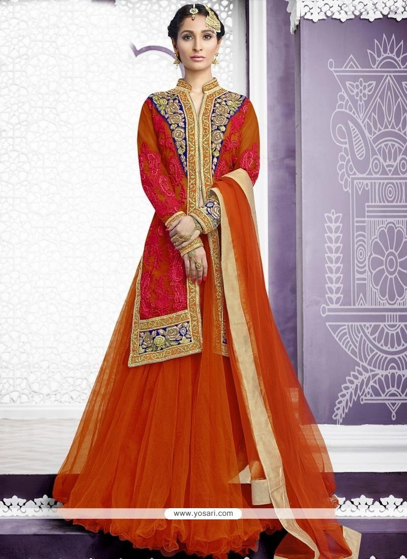 Enchanting Net A Line Lehenga Choli