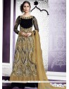 Simplistic Beige Embroidered Work Net Lehenga Choli