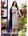 Fashionable Georgette Resham Work Designer Pakistani Suit