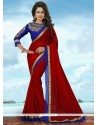 Majestic Banglori Silk Red Traditional Saree