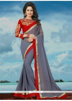 Astounding Banglori Silk Embroidered Work Classic Saree