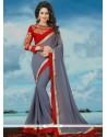 Astounding Banglori Silk Embroidered Work Classic Saree