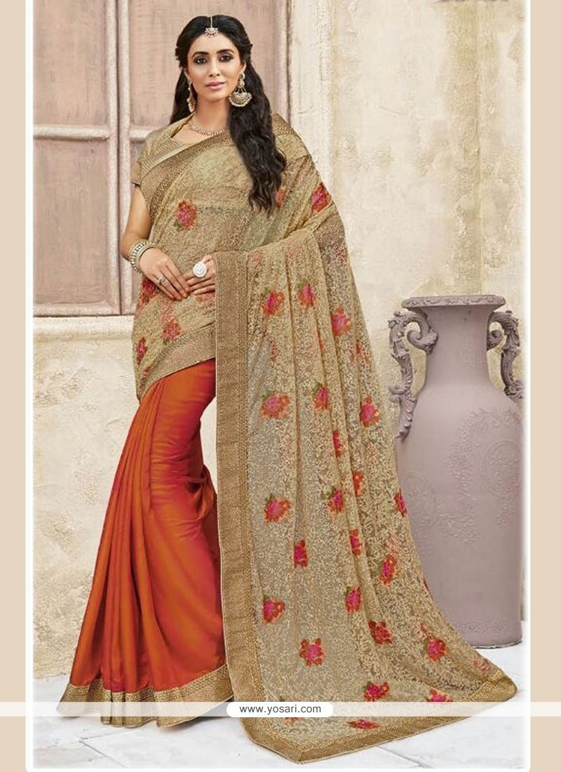 Distinguishable Designer Half N Half Saree For Party