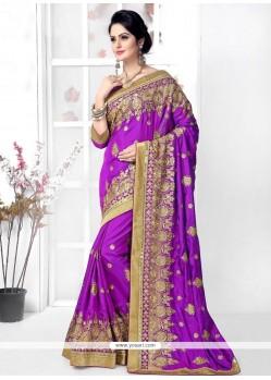Celestial Silk Purple Designer Traditional Sarees