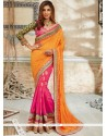 Radiant Georgette Hot Pink Traditional Saree