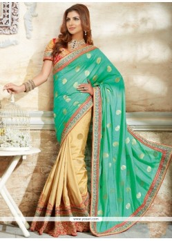 Honourable Georgette Embroidered Work Traditional Designer Sarees