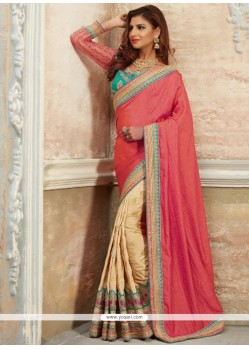Renowned Embroidered Work Traditional Saree
