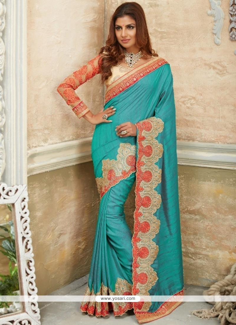 Tempting Georgette Embroidered Work Designer Traditional Sarees