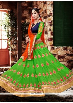 Graceful Green Georgette Lehenga Choli