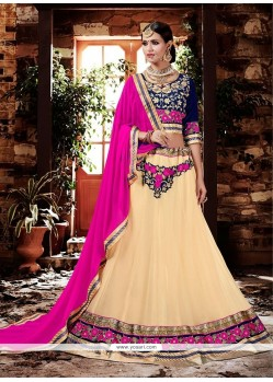 Entrancing Georgette Patch Border Work Lehenga Choli