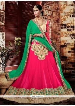 Exotic Hot Pink A Line Lehenga Choli