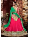 Exotic Hot Pink A Line Lehenga Choli