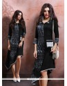 Dazzling Cotton Black Party Wear Kurti