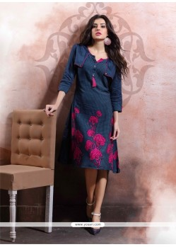 Impressive Cotton Party Wear Kurti
