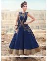 Modest Art Silk Blue Designer Gown