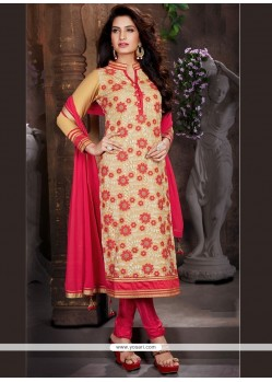 Voluptuous Beige Churidar Designer Suit